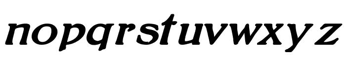 BoltonBoldItalic Font LOWERCASE