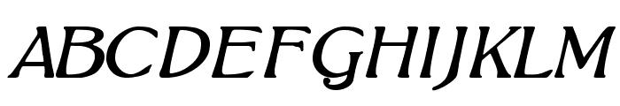 BoltonItalic Font UPPERCASE