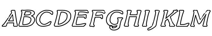 BoltonItalicOutline Font UPPERCASE