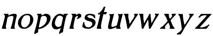BoltonItalic Font LOWERCASE