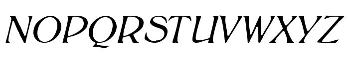 BoltonLightItalic Font UPPERCASE