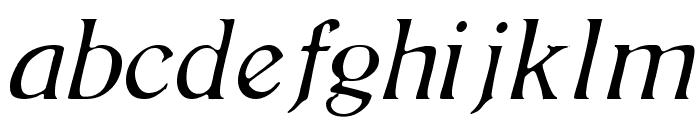 BoltonLightItalic Font LOWERCASE