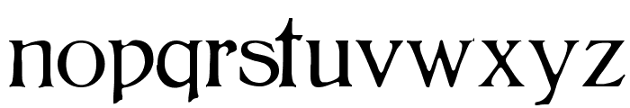 BoltonLight Font LOWERCASE
