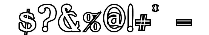 BoltonOutline Font OTHER CHARS