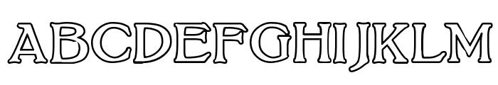 BoltonOutline Font UPPERCASE