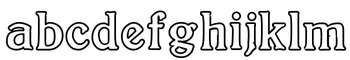 BoltonOutline Font LOWERCASE