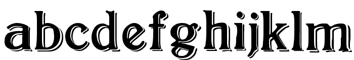 BoltonShadowed Font LOWERCASE