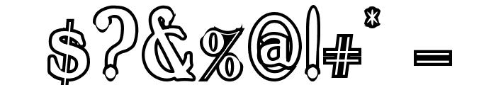 BoltonTitlingOutline Font OTHER CHARS