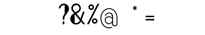Bonafetti 2 Light Font OTHER CHARS