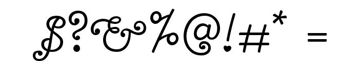 Bonbon Font OTHER CHARS