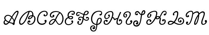 Bonbon Font UPPERCASE