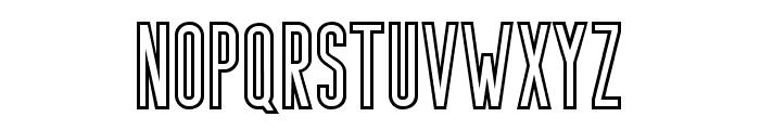 Bondie-Outline Font LOWERCASE
