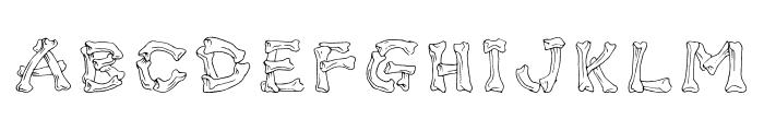 Bone Brigade Font UPPERCASE