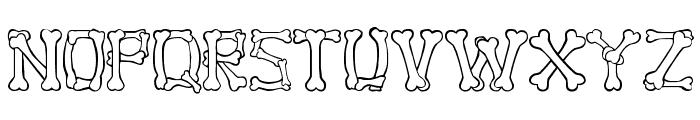 Bone Regular Font UPPERCASE