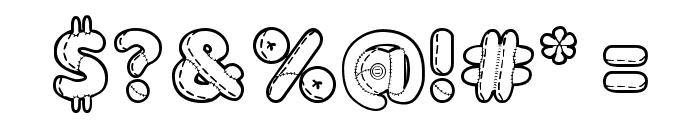 Boneca de Pano Font OTHER CHARS