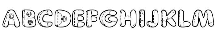 Boneca de Pano Font UPPERCASE