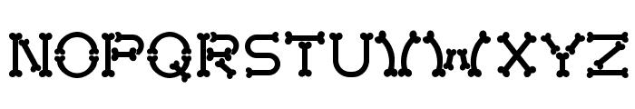 Bonecracker Font UPPERCASE