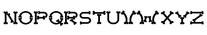 Bonecracker Font LOWERCASE