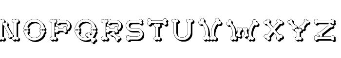 Bonecrackershadow Font UPPERCASE