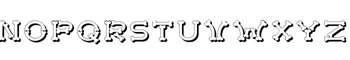 Bonecrackershadow Font LOWERCASE