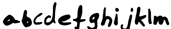 Boneface Font LOWERCASE