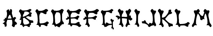 Boner Font UPPERCASE