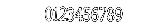 Boneribbon Tall Outline Font OTHER CHARS