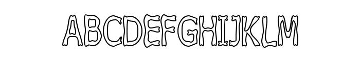 Boneribbon Tall Outline Font UPPERCASE