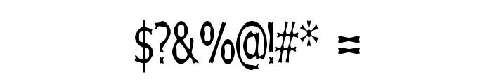 Boneribbon Tall Font OTHER CHARS