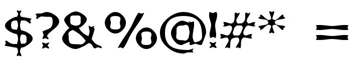 Boneribbon Font OTHER CHARS