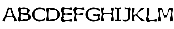 Boneribbon Font UPPERCASE