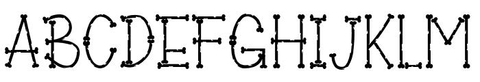 Bones of Muertos Font UPPERCASE