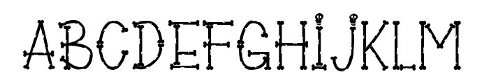 Bones of Muertos Font LOWERCASE