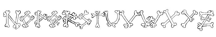 Bones2 Font LOWERCASE