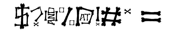 Bonez Font OTHER CHARS