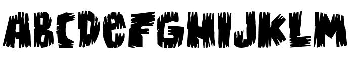Bongus Font UPPERCASE