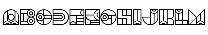 Bonjour Linear Regular Font UPPERCASE