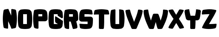 Bonk Fatty Font UPPERCASE