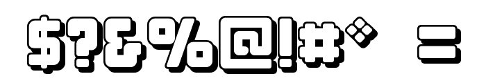 Bonk Offset Font OTHER CHARS