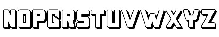 Bonk Offset Font UPPERCASE