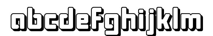 Bonk Offset Font LOWERCASE