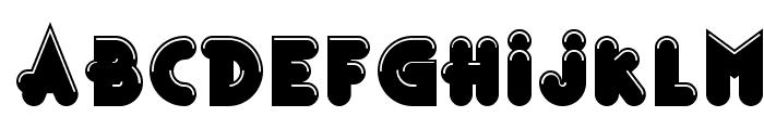 Bonus Shiny Outline Font LOWERCASE