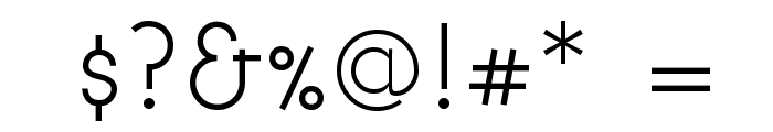 BonvenoCF Light Font OTHER CHARS
