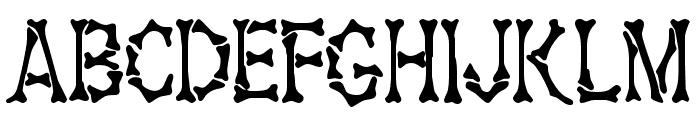 Bony Bones Font UPPERCASE
