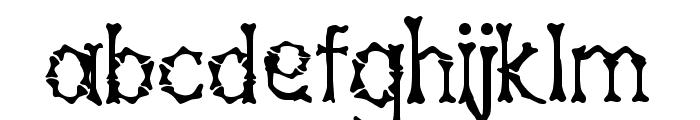 Bony Bones Font LOWERCASE