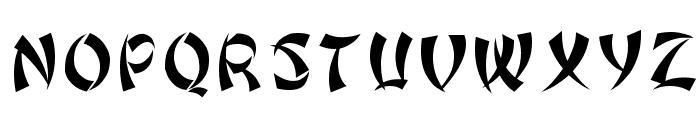 Bonzai Regular Font UPPERCASE