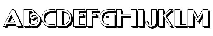 BoogieNightsNFShadow Font LOWERCASE