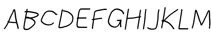 Bookmark Italic Font UPPERCASE