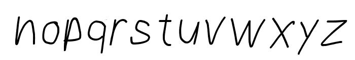 Bookmark Italic Font LOWERCASE