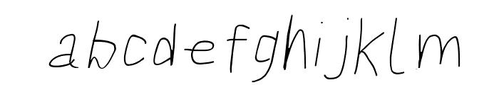 Bookmark Light Italic Font LOWERCASE